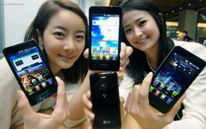 LG Optimus 2X uppvisad på mässa