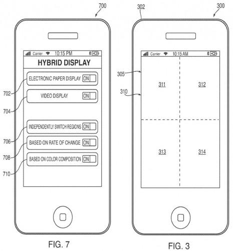 Apple:s patent för en hybrid av e-bläck och LCD-display