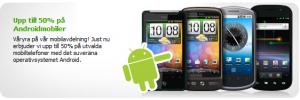 CDON erbjuder upp till 50% rabatt på populära Androidmobiler