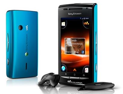 Blå Sony Ericsson W8 Walkman