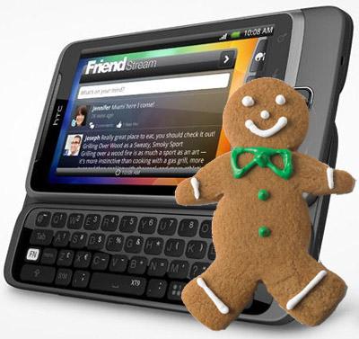 Android 2.3 Gingerbread för HTC Desire Z i Juni