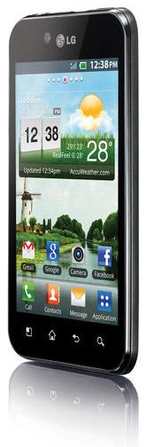 LG Optimus Black från sidan