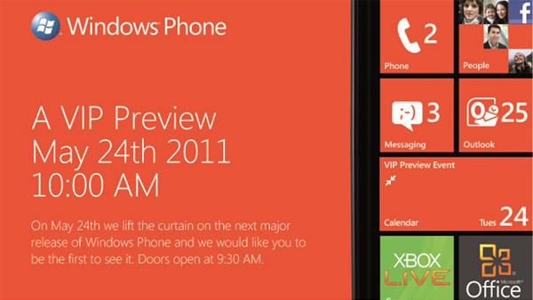 Microsoft ska visa upp deras nästa Windowsmobil med Mango den 24:e Maj