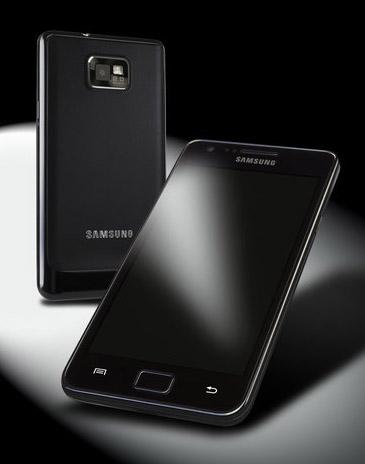 Samsung Galaxy SII i svart