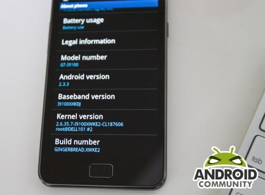 Firmware-uppdatering för Samsung Galaxy S2 för auto-brightness och Swype-tangentbordet