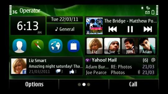 Symbian Anna hemskärm
