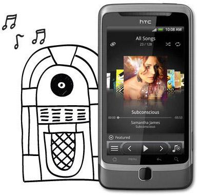 HTC Desire Z musikspelare