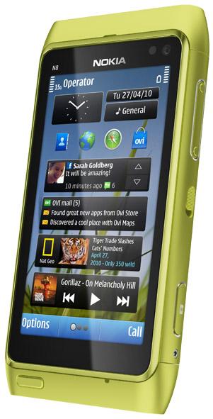 Nokia N8 i grönt