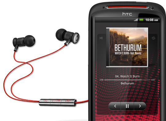 HTC Sensation XE med Beats Audio-hörlurar