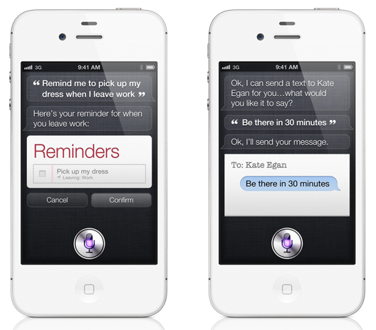 iPhone 4S nya funktion Siri i användning