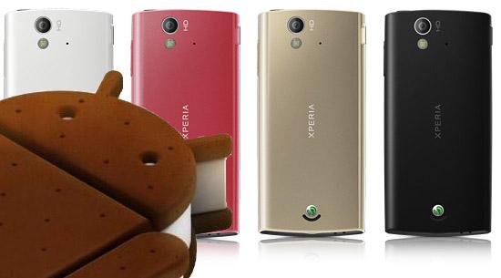 De senaste Sony Ericsson Xperia-modellerna kommer få Android 4.0 Ice cream sandwich snart