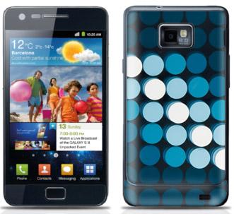 Skin till Samsung Galaxy S II, Dots av designerna Beck & Jung hos WeSkins