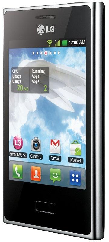 LG Optimus L3 från sidan