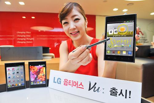 LG Optimus Vu visas upp med dess massiva skärm