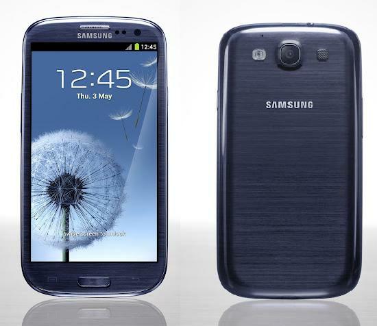 Den blå (Pebble blue) Samsung Galaxy S III blir försenad runt 2-3 veckor