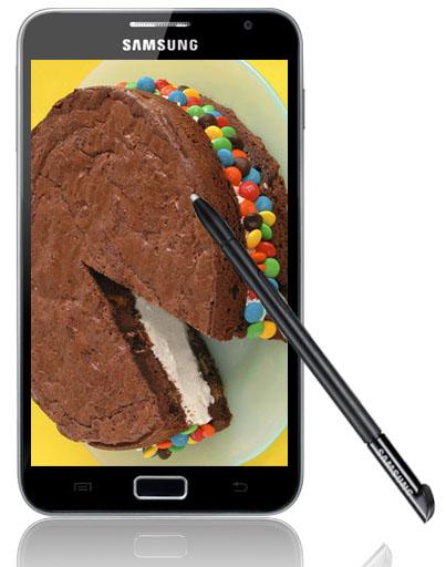Samsung Galaxy Note får Ice cream sandwich i delar av Europa