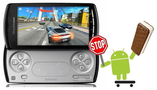 Det blir inget Ice cream sandwich för Sony Ericsson Xperia Play