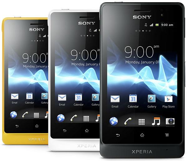 Sony Xperia Go i olika färger