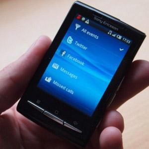 Xperia X10 Mini Pro:s gränssnitt