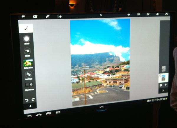 Samsung Galaxy Note 10.1 på en extern Samsung TV-skärm