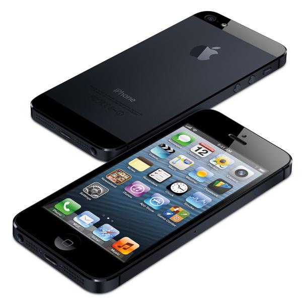 Svart iPhone 5 framsida och baksida