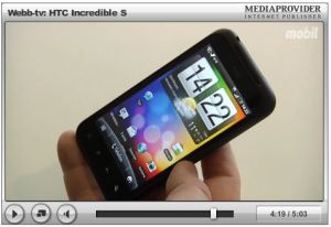Video med genomgång av HTC Incredible S från Mobil.se