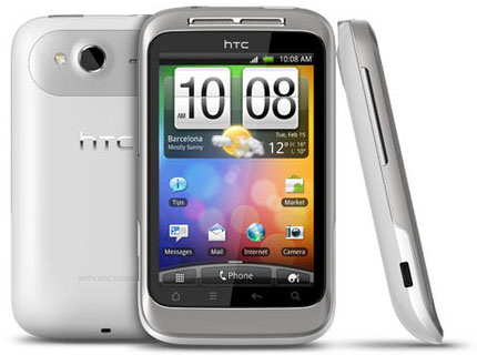 Vit HTC Wildfire S