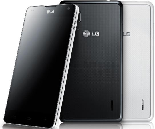 LG Optimus G svart och vit