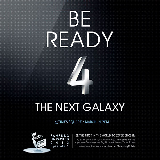 Galaxy S IV eventinbjudan