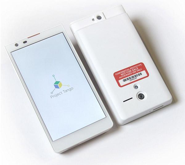 Google Project Tango mobiltelefon
