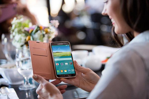 Samsung Galaxy S5 i användning