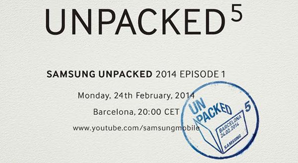 Bild på inbjudan till Samsung event som tros vara för Galaxy S5
